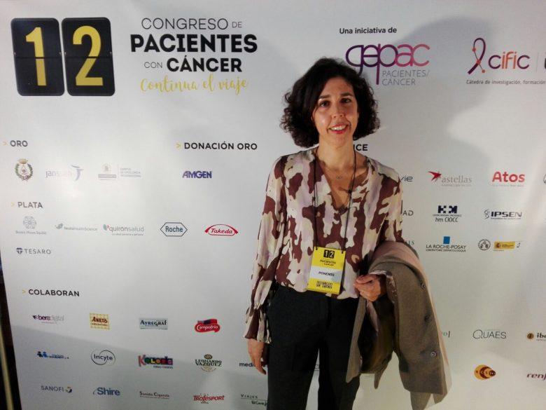 Raquel Reinaldos en Congreso pacientes con cáncer - linfedema